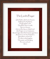 Framed Lord's Prayer - Red