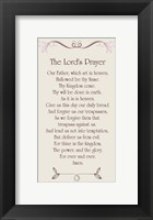 Framed Lord's Prayer - Floral