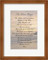 Framed Lord's Prayer - Sunset