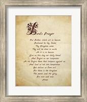 Framed Lord's Prayer