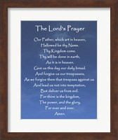 Framed Lord's Prayer - Blue Sky