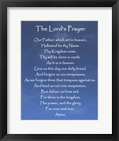 Framed Lord's Prayer - Blue Sky