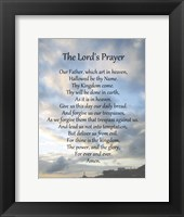 Framed Lord's Prayer - Scenic