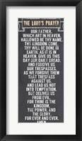 Framed Lord's Prayer - Chalkboard Style