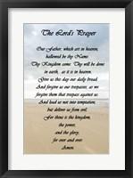 Framed Lord's Prayer - Beach