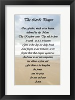Framed Lord's Prayer - Beach