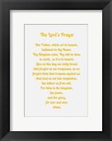 Framed Lord's Prayer - Gold
