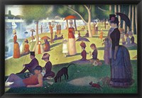Framed Sunday Afternoon on the Island of La Grande Jatte