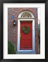 Framed Red Door 117