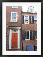 Framed Red Door, Blue Door