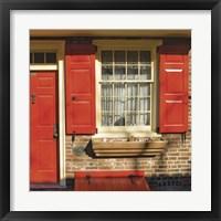 Framed Red Door, Red Shutters