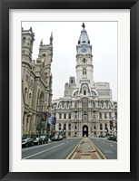 Framed Philadelphia City Hall (Color)