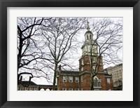 Framed Independence Hall (horizontal) (Color)