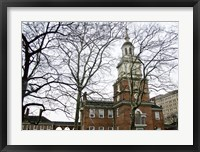 Framed Independence Hall (horizontal) (Color)