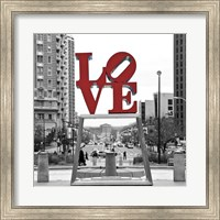 Framed LOVE (Black, White, Red)