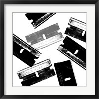 Silver Blades Framed Print