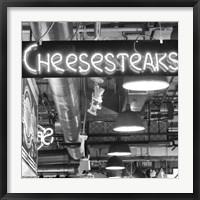 Framed Cheesesteaks  (b/w)