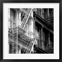 Framed Fire Escape (b/w)