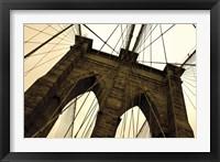 Framed Brooklyn Bridge II (sepia)