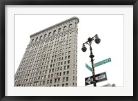 Framed Flatiron Building with Lamp