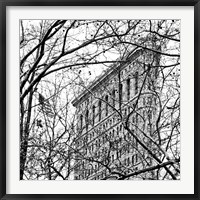 Framed Veiled Flatiron Building (b/w) (detail)
