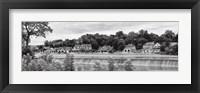 Framed Boathouse Row (b/w)