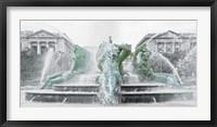 Framed Fountain (b/w)