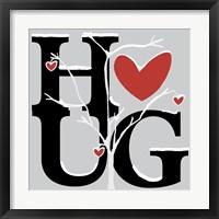Hug (Winter) Framed Print
