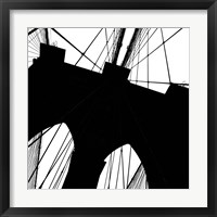 Framed Brooklyn Bridge Silhouette (detail)