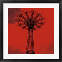 Red Parachute Jump Framed Print
