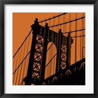 Orange Manhattan Framed Print