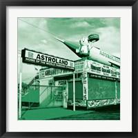Green Astroland Framed Print