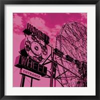 Cotton Candy Wonder Wheel Framed Print