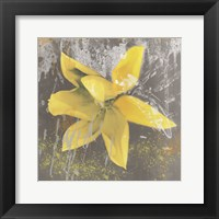 Framed Tulip Fresco (yellow)