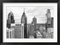 Framed Philly Skyline (b/w)