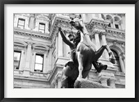 Framed Horse and Rider (b/w)
