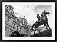 Framed City Hall Sculpture (horse) (b/w)