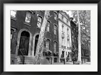 Framed Delancy Street (horizontal) (b/w)