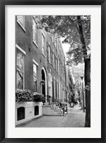 Framed Delancy Street (vertical) (b/w)