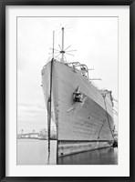 Framed Naval Ship (b/w)