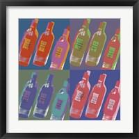 Framed Wine Bottles