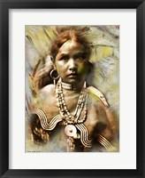 Framed Jicarilla Maiden - Apache