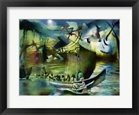 Framed Northwest Boats