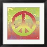 Outtasight Peace Framed Print