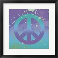 Groovy Peace Framed Print