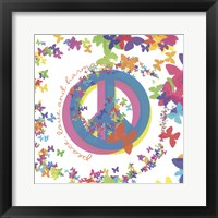 Framed Peace, Love, and Harmony