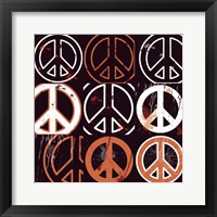 Peace Mantra (Orange) Framed Print