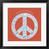 Peace, Love, and Understanding Framed Print