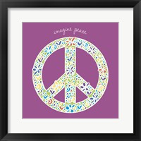 Imagine Peace Framed Print