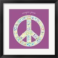 Framed Imagine Peace